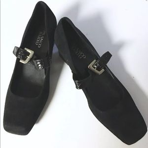 Franco Sarto Suede Leather Square Toe Shoes